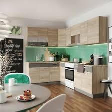 details zu küche l form alina 180 x 250 cm küchenzeile einbauküche sonoma eiche neu