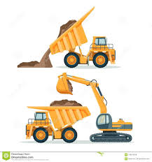 Dump Truck With Body Full Of Soil And Modern Excavator Stock Vector ... Dickinson Truck Equipment Inc Oil Field Farm Industrial Selfdriving Trucks Are Going To Hit Us Like A Humandriven Service Bodies Carco Industries Tool Storage Ming Utility Beds J Fabricating Commercial Sales In Solomon Kansas Container Isuzu Specifications Info Lynch Center Dump Drive Products With Body Full Of Soil And Modern Excavator Stock Vector Reading Oem