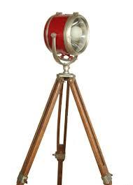 Surveyor Floor Lamp Tripod by Vintage Tripod Mounted Boat House Light At 1stdibs