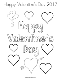 Happy Valentines Day 2017 Coloring Page