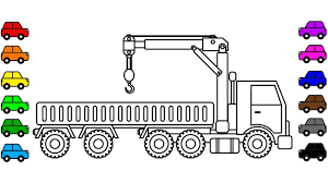 Learn Colors With Big Crane Truck Coloring Pages For Kids ... Very Big Truck Coloring Page For Kids Transportation Pages Cool Dump Coloring Page Kids Transportation Trucks Ruva Police Free Printable New Agmcme Lowrider Hot Cars Vintage With Ford Best Foot Clipart Printable Pencil And In Color Big Foot Monster The 10 13792 Industrial Of The Semi Cartoon Cstruction For Adults