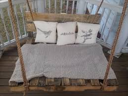 Cool Pallet Swing Bed With Back