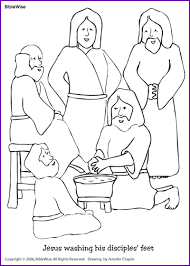 Coloring Jesus Washing The Disciples Feet