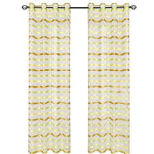 Green Striped Curtain Panels by Lavish Home Grey Sofia Grommet Curtain Panel 95 In Length 63