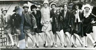 A Group Of Flappers Pose Revealing Knees And All Things That Defined The Flapper