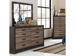 Zayley 6 Drawer Dresser by Signature Design By Ashley Harlinton Rustic Two Tone Dresser