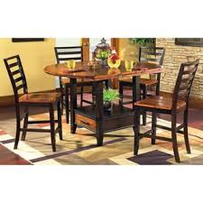 5 Piece Counter Height Dining Room Sets by Acacia 5 Piece Counter Height Lazy Susan And Storage Dining Set By