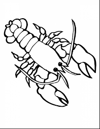 Impressive Lobster Sea Animals Coloring Pages Printable With Animal And