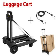 100 Hand Truck Vs Dolly Portable Folding Cart Fold Up Luggage Moving Cart W