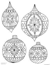 Adult Christmas Holiday Ornaments Coloring Pages