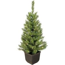 7ft Pre Lit Christmas Trees by 4 U0027 Pre Lit Christmas Trees