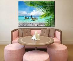 wandbild paradies wand bilder dekoration wohnung modern wanddeko groß für wohnzimmer wb0495