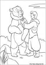 Brother Bear Coloring Pages On Book