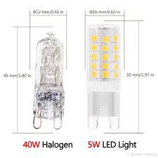g9 led light bulbs 5 watt equivalent to 40 watt halogen bulb 120