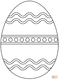 Click The Plain Easter Egg Coloring Pages