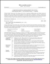 Sample CFO Resume