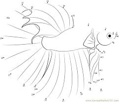 Betta Fish Dot To Printable Worksheet