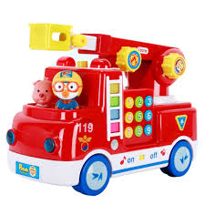100 Toy Moving Truck Pororo Fire Rescue Play Car With Melody Sound