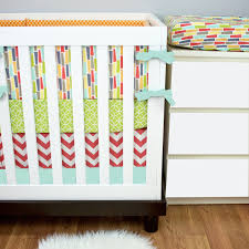 Coral And Mint Crib Bedding by Grey Gender Neutral Crib Bedding Gender Neutral Crib Bedding