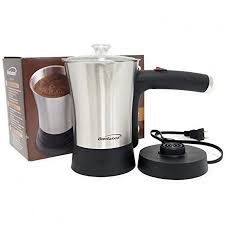 Electric Turkish Coffee MakerBrentwood 800W Stainless Steel Greek MakerSilver