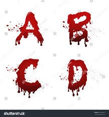 Set Blood Alphabet Vector Fontcollection Blood Stockvector