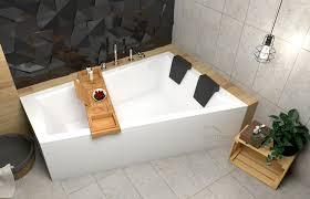 ecolam große badewanne 180x125 cm mit schwarzen