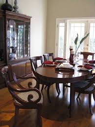 Tropical British Colonial Style Add Different Chairs To Mahogany Dining Room Set Create This