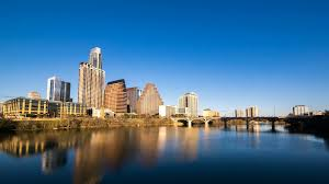 100 Austin City View Timelapse View Of The Skyline At Dusk With The River