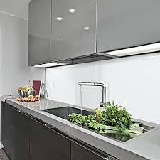 kerabad küchenrückwand küchenspiegel wandverkleidung fliesenverkleidung fliesenspiegel aus aluverbund küche weiß glanz matt 60x300cm