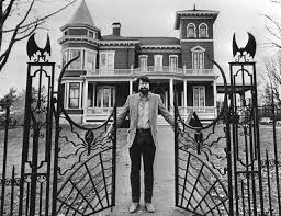 Spirit Halloween Bangor Maine by Stephen King In Front Of His House In 1982 With The Appropriately