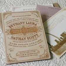Vintage Wood Engraved Typography Wedding Invitation By Beyondesign