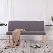 anlund sitzbank 139 5 cm hellgrau polyester