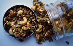 Hulled Pumpkin Seeds Calories by Spicy Pumpkin Seed Cashew Crunch Myfitnesspal