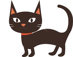 Burmese cat Black cat Kitten Whiskers Lovely cartoon black cat
