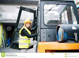 Female Forklift Truck Driver Outside A Warehouse. Stock Photo ... Sole Female Truckies Adventure On Cordbreaking Hay Drive Life As A Woman Truck Driver Transport America Women Drivers Have Each Others Backs Jb Hunt Blog Looking Out Window Stock Photos 10 Images What Does Your Fleet Insurance Include Why Is It Need Insurefleet Female Day In The Life Of Women Trucking Fr8star Tag Young European Scania Group Trucker The Majority Want To Be Respected For Truck Driver And Photo Otography33 186263328 Trucking Industry Faces Labour Shortage It Struggles Attract Looking Drivers Tips For Females To Become Using Radio In Cab Closeup Getty