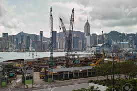 100 Hong Kong Skyscraper Construction Of A Skyscraper On The Waterfront Of