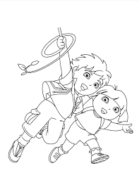 Dora Diego Coloring Pages Print