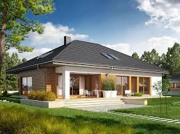 100 Modern Single Storey Houses Wizualizacja_3_ac_marcel_g2 Pretty Homes Bungalow House Design