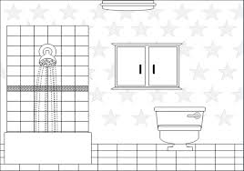 fort room clipart black and white 11
