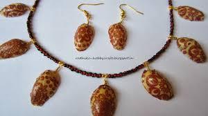 Decoupage Pistachio Shells Necklace