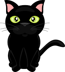 black cat clipart clear background