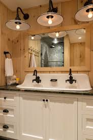 Small Trough Bathroom Sink With Two Faucets by Best 25 Farmhouse Bathroom Sink Ideas On Pinterest Farmhouse