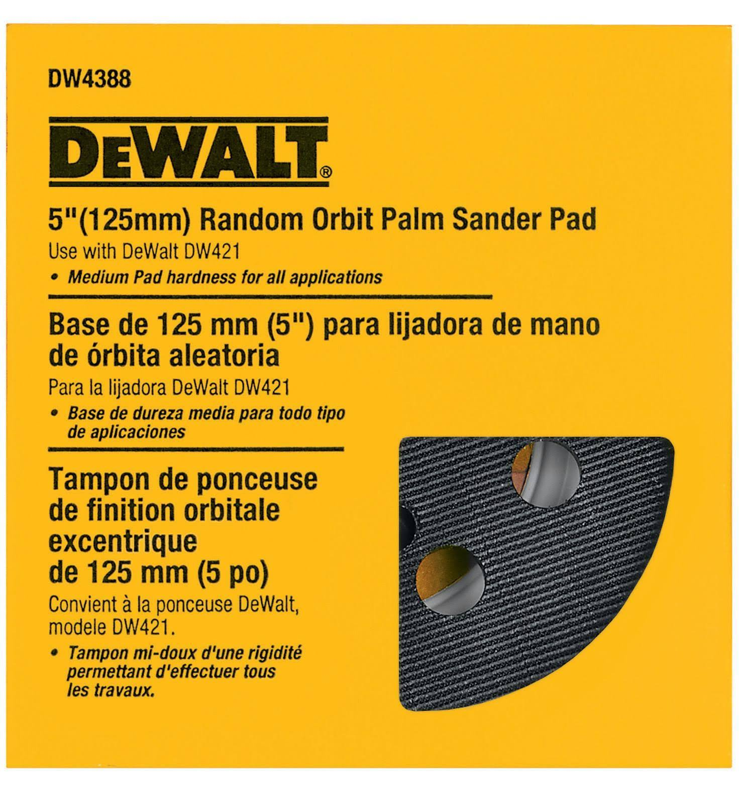 DeWalt 5-inch Random Orbit Palm Hook Loop Sander