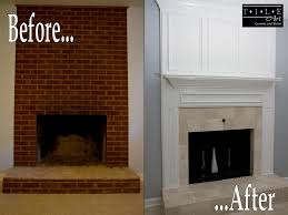 Batchelder Tile Fireplace Surround by Living Room Cherry Fireplace Design Pictures Remodel Decor And