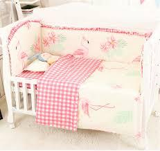6 9 stücke flamingo nestchen kit de berço baby schlafzimmer set bett bettwäsche kinder baby schlafzimmer hohe qualität drucken bettwäsche sets