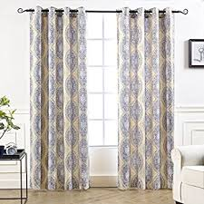 Yellow And Gray Window Curtains by Amazon Com Lush Decor Forest Window Curtain Panel Set Of 2 84