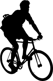 Free Photo Active Man Cyclist Seated Bike Silhouette Wheel