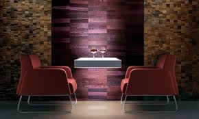 Skemas Open Mind Vertical Line Featuring Reclaimed Wood Wall Coverings In Patchwork And Barrique