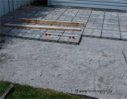 faire une dalle exterieur faire un patio en dalles de ciment