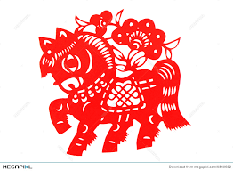 Chinese Paper Cutting Horse